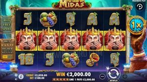 Review Slot online the hand of midas pragmatic